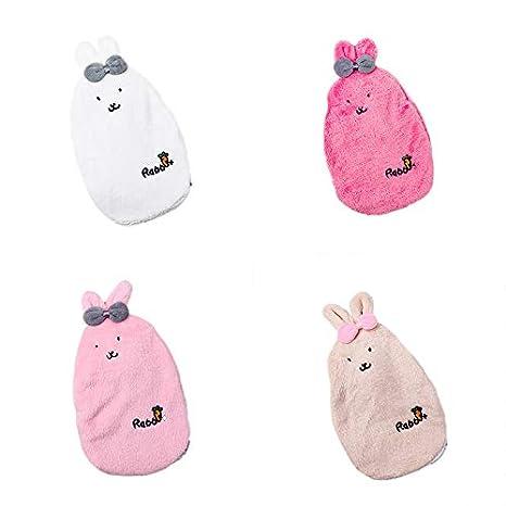 Ellaao Winter Bouillotte Dessin anim/é Lapin N/œud amovible en peluche Coque de protection Student Mini sac de leau chaude facilit/é les douleurs et de confort en veille