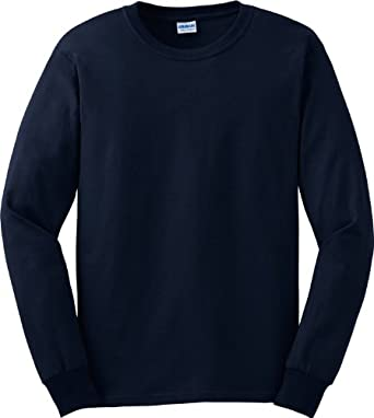 Gildan Men's G240 Ultra Cotton Long Sleeve T-Shirt | Amazon.com
