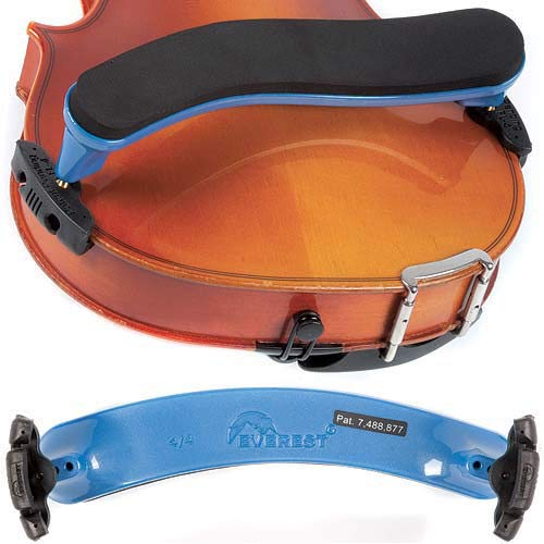 EVEREST Spring Collection Violin Shoulder Rest 4/4, Blue