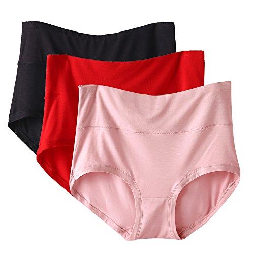 rosa Alta Biancheria Vita Size 3 Pacco Kg Breve Di In amp; Nero Modal Donna Rosso 70 Plus Mutandine 60 Imixcity for Da Intima PwYXqW6x6Z