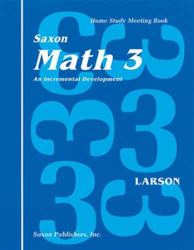 Saxon Math 3 Homeschool: Complete Kit 1st Edition by HOUGHTON MIFFLIN HARCOURT