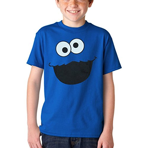 Sesame Street Cookie Monster Face Youth Kids T-Shirt-Youth Small [6/8]