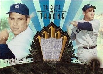 2014 Topps Tribute to the Throne Relics Blue #THRONE-YB Yogi Berra Game Worn Jersey Baseball Card - Only 50 ()