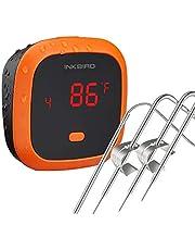 Inkbird IBT-4XC Waterdichte Bluetooth BBQ Thermometer met 4 Probes, Oplaadbare Vleesthermometer met Magneet en Alarm voor Keuken, Buitenshuis Koken, Roker,voor iOS en Android