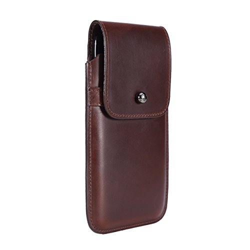 Limited Edition: Blacksmith-Labs Barrett 2017 Premium Leather Swivel Belt Clip Holster for Apple iPhone 7 Plus for use with No Case - Horween Chromexcel Havana Brown/Gunmetal Belt Clip by Blacksmith-Labs