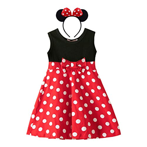 MYRISAM Baby Girls Minnie Birthday Cake Smash Outfit Halloween Carnival Fancy Dress up Costumes/Headband ()