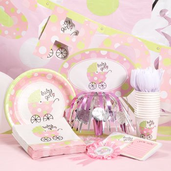 Amazon Com Pink Baby Girl Baby Buggy Baby Carriage Shower