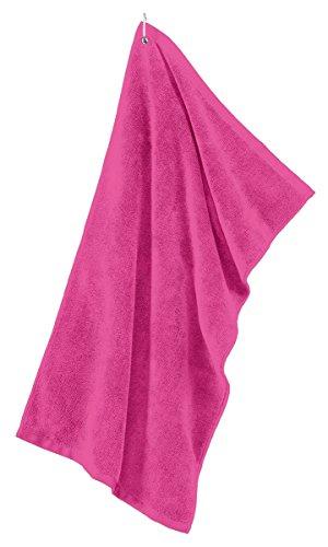 - Port Authority Grommeted Tri-Fold Golf Towel TW50 - Pop Raspberry TW50 OSFA