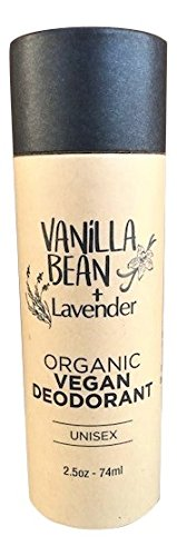 Eco Friendly Deodorant - All Natural Deodorant – Organic & Vegan – For Women & Men – Biodegradable Packaging 2.5oz/74ml [Scent: Vanilla Bean + Lavender] (Regular)