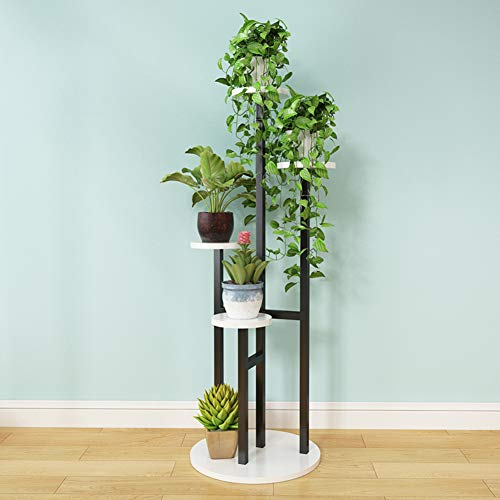 Wood-Based Panel Multi-Storey Floor-Standing Flower Stand,Modern Minimalist Living Room Tv Cabinet Balcony Shelf Plant Stand-L -