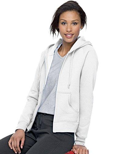Hanes 8 oz Women's COMFORTBLEND EcoSmart Fleece Full-Zip Hood