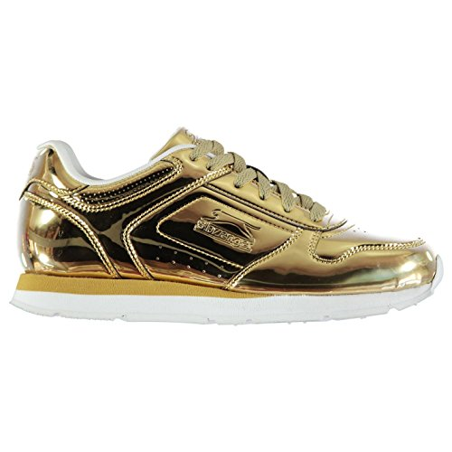 Slazenger Damen Classic Turnschuhe Gold