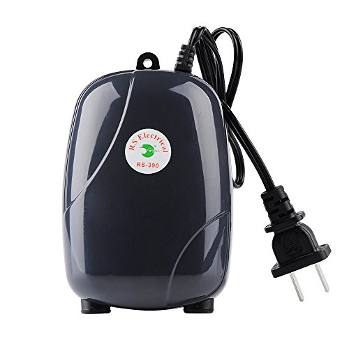 Ultra Silent High Out Energy Efficient Aquarium Air Pump Fish Tank Oxygen AirPump With 2 Air stone/2M Silicone Tube