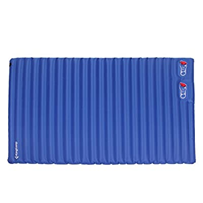KingCamp Light Single / Double Outdoor Camping Air Mattress Mat Pad Bed with Built-in Foot Pump