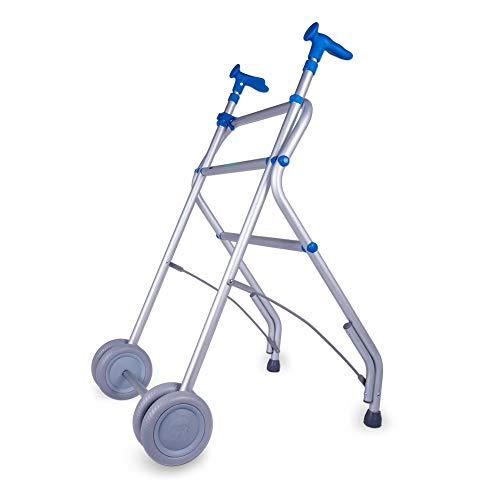 Andador, Aluminio, Plegable, Regulable en altura, Azul, AIR ...