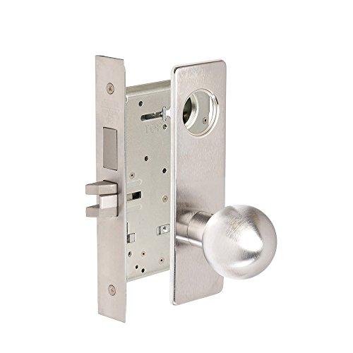 CORBINRUSSWIN ML2024-GRM-626-LC 626 Satin Chrome, Knob GRM Global, Entrance/Entry/Office, Steel; Stainless Steel; - Stainless Entrance Steel