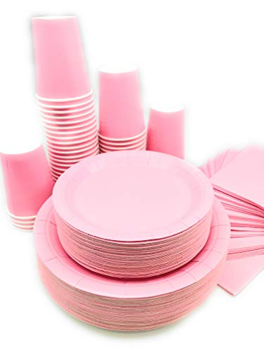Serves 50 | Complete Party Pack | Light Pink | 9