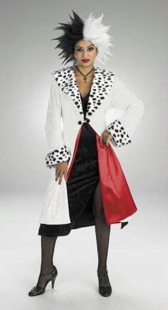 Prestige Cruella De Vil Costumes (Cruella de Vil Prestige Costume - Large - Dress Size 12-14)
