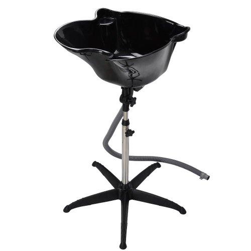 Portable Height Shampoo Basin Adjustable Hair Treatment Bowl Baber Salon Tool Black Brand New PP Material