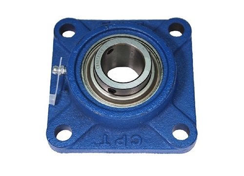 Challenge UCF206-20 Standard Flange Bearing Unit, 4 Bolt, Relubricable, Set Screw Locking Collar, 3-1/4