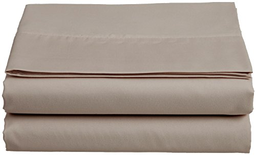 Clara Clark Supreme 1800 Collection Single Flat Sheet, King, Taupe Sand ()