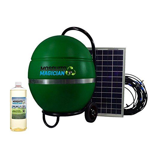 Solar Powered Mosquito Insect Misting System 1 Quart Mosquito Magician Mosquito Killer Concentrate