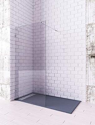 Modelo OLGA - Mampara de ducha de 1 hoja fija - Cristal 8 mm con ANTICAL INCLUIDO: Amazon.es: Bricolaje y herramientas