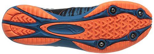 Image of the Saucony Men's Kilkenny XC5 Cross Country Racing Shoe, Royal/Black/Vizi Orange, 11.5 M US