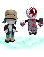 1/2pcs Friday Night Funkin Plushies Scrapeface and Garcello,Fnf Garcello /Scrapeface Soft Stuffed Animal Plush Gift for Game Fans