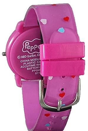 Peppa Pig niña de reloj Digital con brillantes, color rosa: Amazon.es: Relojes