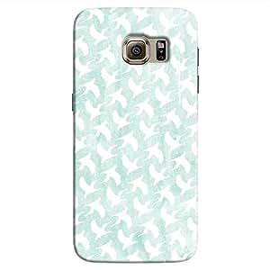 Cover It Up - White Bird Print Galaxy S7 Hard Case
