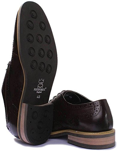 Lugano Pointures pour 46 Justin 44 Coffee 43 39 47 Chaussures Office hommes 42 41 cuir Reece 40 45 Formal en FA 48 TzqEEw4px8