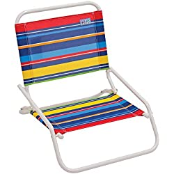 RIO Beach Wave 1-Position Beach Folding Sand Chair - Pop Stripes
