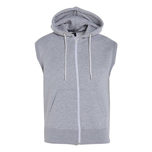 GG Boys Kids Plain Fleece Zip Sleeveless Hoodie Gilet Sweatshirt Jacket Sleeveless Zip Hoody
