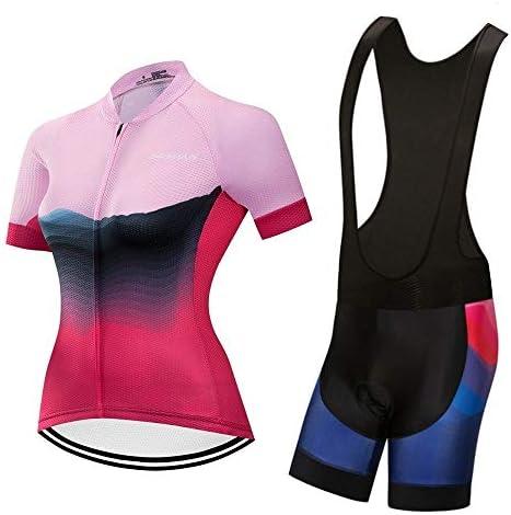 夏の新しいサイクリングスーツ女性半袖スーツチームバージョン乗馬パンツマウンテンバイク屋外スポーツ用品