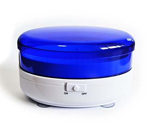 Myboree Mini Cordless Ultrasonic Cleaner Machine for Denture Eyeglasses Jewelry Lens Mouth Guard ()