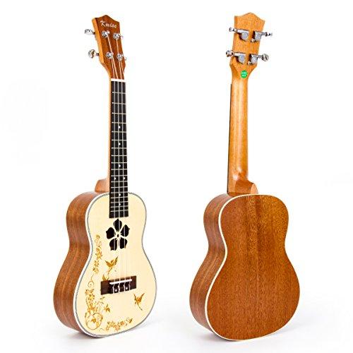 Solid Spruce Ukulele 23 Inch Ukele Concert Uke Mahogany Ukelele Hawaii Guitar