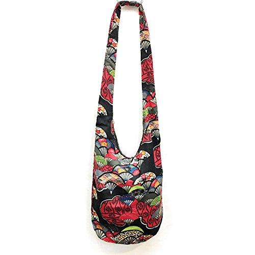 (KARRESLY Bohemian Cotton Hippie Crossbody Bag Hobo Sling Bag Handmade Messenger Shoulder Bags(2-616))