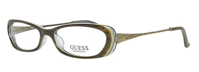 Amazon.com: Guess anteojos GU 2271 Piel de serpiente Oliva ...