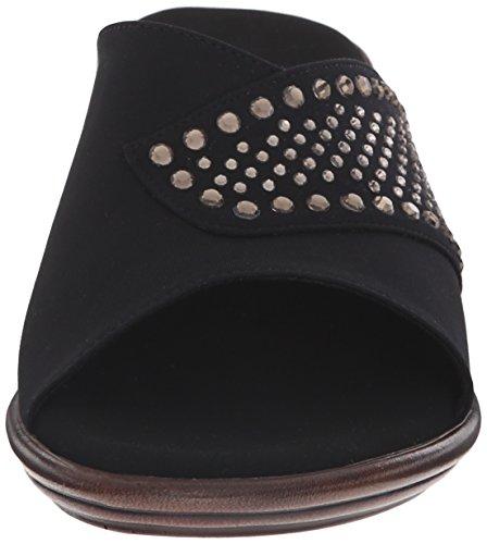 Black Sandal Wedge Shine NEX Onex Women's O qAYnT