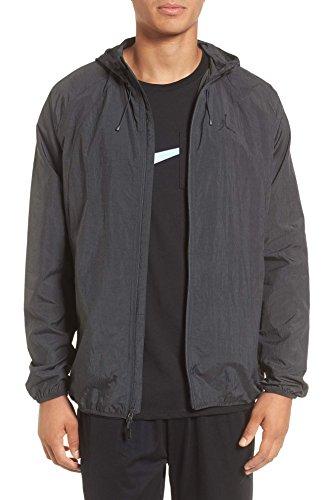 Nike Men's Jordan Sportswear Wings Windbreaker Jacket (Anthracite/Black, Medium)
