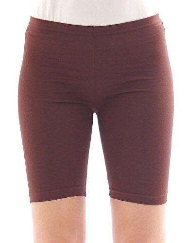 Femmes Sport Shorts Shorty Shorts Sport Radler court Leggings Coton - rose, 38