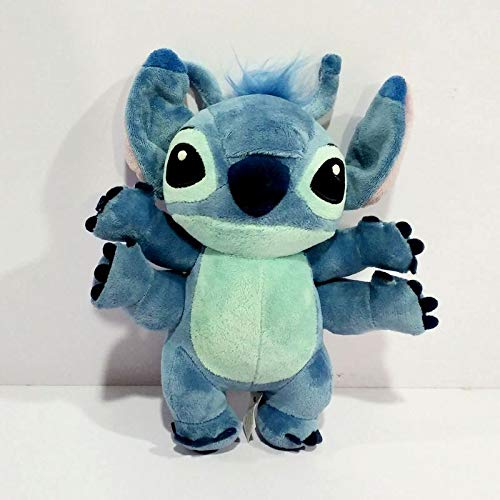 PAPRING Stitch Stuffed Animal 8 inch 4 Hands Lilo Disney Movie Big Plush Toy Large Toys Gift Collectable Christmas Halloween Birthday Gifts Cute Doll Collectibles New Decoration Collectible for Kids