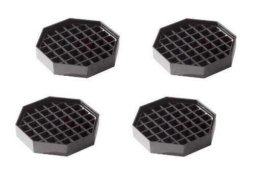 ChefLand Octagonal Shape Drip Tray Plastic, 41/2 by 41/2-Inch, Black, 4 - Drip Tray Airpot