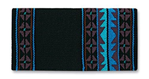 Mayatex Show Blanket (Mayatex Mojave Saddle Blanket, Black/Chestnut/Show Turquoise, 36 x 34-Inch)