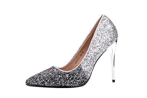 Mila Lady (BONNIE09 Women Glitter Pointed Toe Pumps