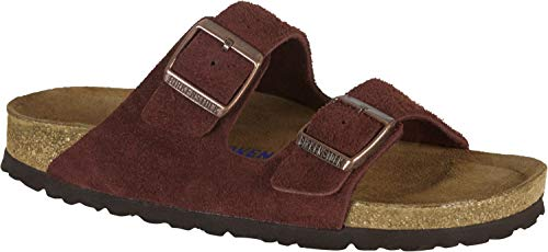 - Birkenstock Arizona Suede Soft-Footbed Womens Slip-on Shoe Brown EU 39 - US L8 M6