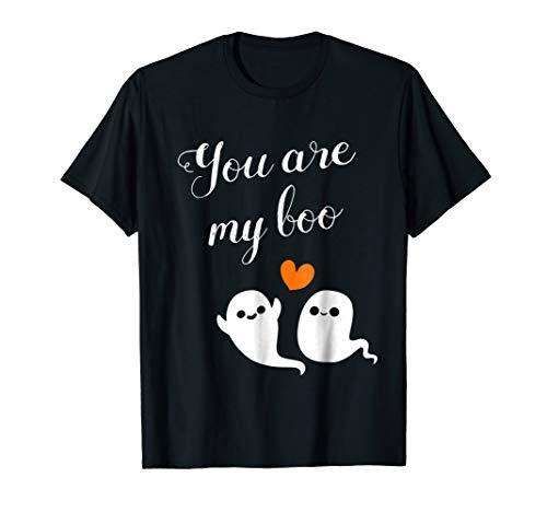 Halloween Couples, Kids & Women Shirt Cute Boo Ghost