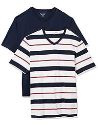 Amazon Essentials Paquete de 2 Camisetas con Cuello en V Holgado Camiseta para Hombre