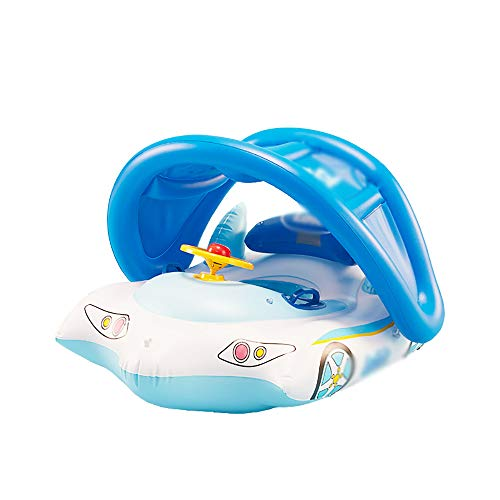 QJJML Children's Swim Ring, Newborn Baby Sitting Circle Car Swimming Boat Shade Floating Boat by QJJML (Image #4)